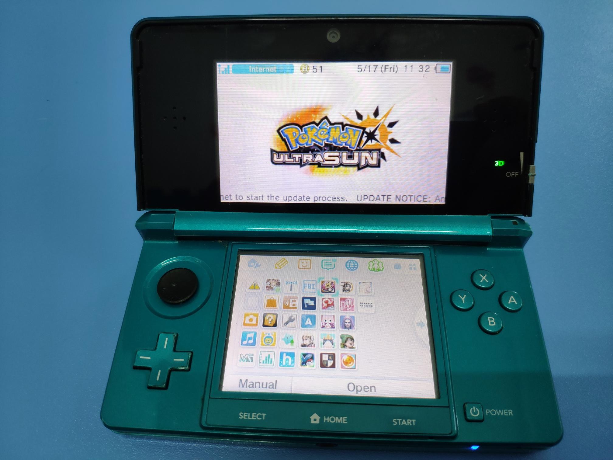 Máy chơi game Nintendo old 3DS hàng nội địa Nhật mã Japan - Tặng kèm thẻ nhớ 32GB Teamgroup chép...