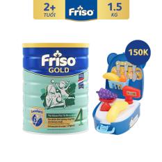 [Freeship toàn quốc] Sữa bột Friso Gold 4 1.5 kg cho trẻ từ 2-4 tuổi + Tặng Bộ đồ chơi trái cây trị giá 150K