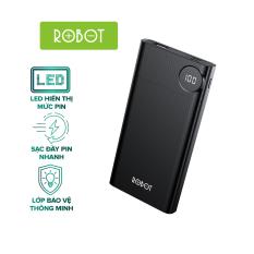 Pin Sạc Dự Phòng Nhỏ Gọn ROBOT RT190 10000mAh LED hiển thị Pin 2 cổng vào Micro/Type-C và 1 Cổng Ra USB l HÀNG CHÍNH HÃNG