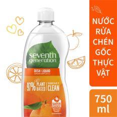 Nước rửa chén gốc thực vật Seventh Generation hương cam xả 750ml