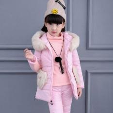 Trẻ em khi mặc quần áo mới cho bé gái mùa thu and mùa đông bộ quần áo bé gái /cotton 6-12 toto-quốc tế
