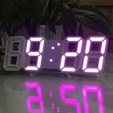 [FREE SHIP – 5 MÀU] Đồng hồ Để Bàn hoặc Treo Tường Điện Tử 3D – Báo Thức & Đo Nhiệt Độ – DH092