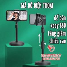 Giá đỡ đế đỡ kẹp điện thoại để bàn đa năng xem phim video livestream xoay 360 độ chắc chắn tiện lợi