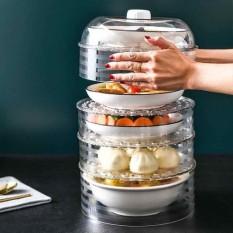 Bộ lồng bàn nhựa đứng 5 tầng giữ ấm, chống bụi