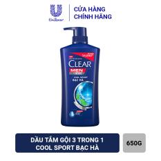 [DUY NHẤT 29.12 – MUA 1 TẶNG 1 DẦU GỘI CLEAR BEER 370G] – Clear Men Cool Sport Bạc Hà Dầu Gội Sạch Gàu sạch gàu vượt trội cấp ẩm da đầu chấm dứt nỗi lo về gàu 630g