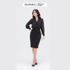 Chân váy nữ bút chì 1 nút GUMAC mẫu mới VB873