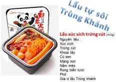 Lẩu tự sôi ( lẩu ăn liền ) – Xúc xích trứng cút – Ăn vặt Trung Quốc
