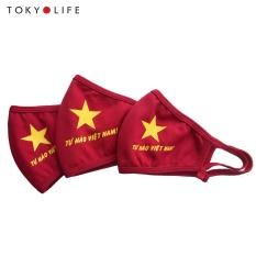 Combo 3 khẩu trang vải Tự Hào Việt Nam Block100 UVMLB019G