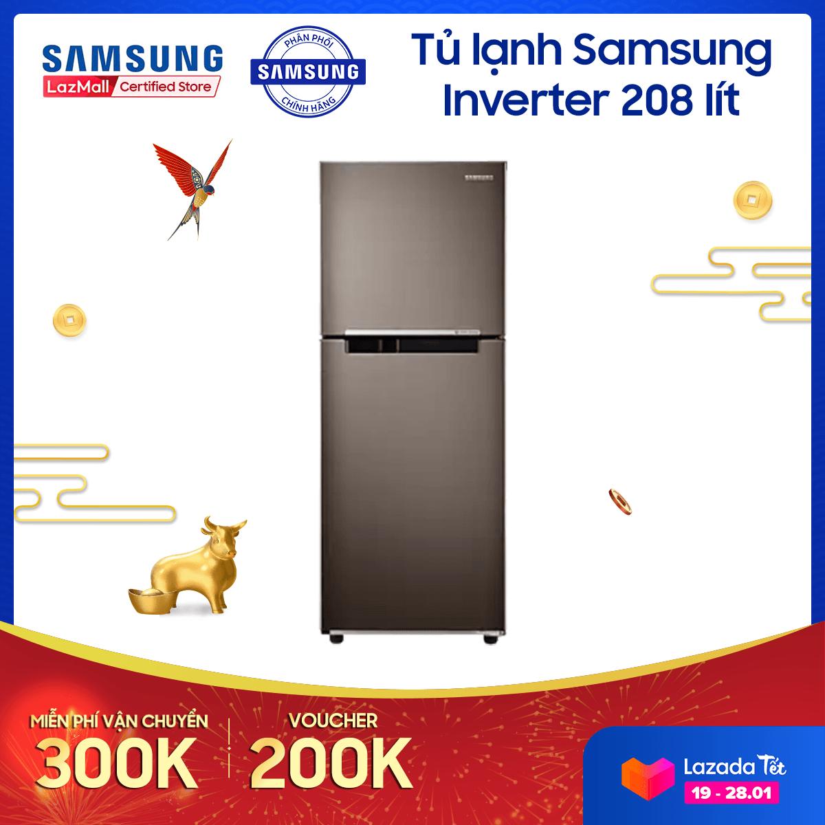 Tủ lạnh Samsung Inverter 208 lít RT20HAR8DDX/SV – REF