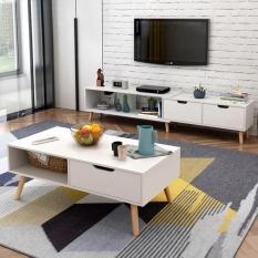 Combo kệ tivi bàn trà sofa phong cách Bắc Âu IGEA – GP81+GP82