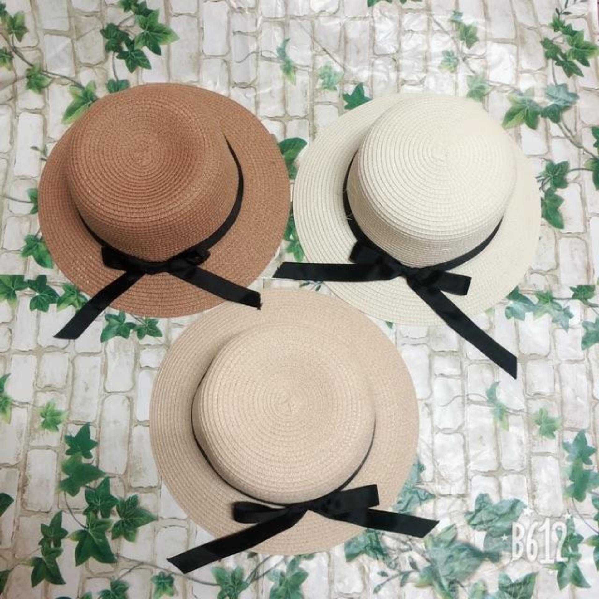 Mũ cói rộng vành, nón cói đi biển,du lịch thắt nơ siêu xinh, dễ thương (nhiều mẫu trong shop)
