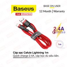 [ Mã giảm giá 60k cho đơn hàng từ 400k ] Cáp sạc nhanh Baseus Cafule Lightning hỗ trợ sạc nhanh cho iPhone/iPad, truyền dữ liệu tốc độ cao