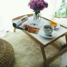 Khay bàn ăn mini gỗ GIBA chân gập đa năng – Bed Tray