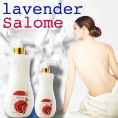 [ Combo 2 chai ] Sữa tắm trắng da Cao Cấp Lavender Salome Vitamin E xuất Pháp chai khổng lồ 1000ml + chai nhỏ 500ml, HSD đến tháng 09-2022