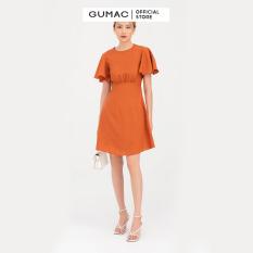 Đầm nữ nhún eo tay bèo DB765 mẫu mới GUMAC
