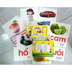 [HCM giao 1-2 ngày]Thẻ học thông minh loại to 21 x 15cm – Flash Card dạy trẻ về thế giới xung quanh gồm 100 thẻ song ngữ 14 chủ đề – Smart Baby