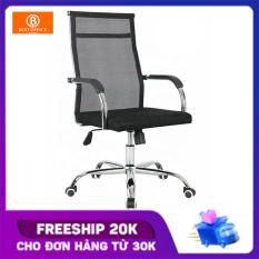Ghế xoay lưới lưng cao BOX204 – Khung thép siêu bền – Dòng ghế văn phòng được ưa chuộng