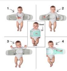 Khăn quấn cho bé khi ngủ chống giật mình (Có video sản phẩm)