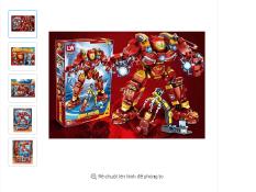 Đồ chơi lắp ráp, Lego Giá rẻ,Lego Hero Mecha, Lego Marvel Mô Hình Robot Hulkbuster Iron Man, Lego Robot, Lego siêu anh hung, Lego người sắt- legoxanh