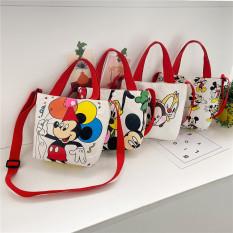 Túi tote vải đeo chéo dễ thương hình MICKEY, PLUTO, CHIP&DALE phong cách Hàn Quốc cho bé gái TX22