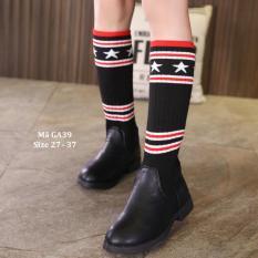 Boots Da Kết Hợp Tất Len Thời Trang Và Phong Cách GA39