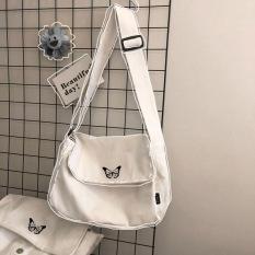 [Tặng Móc Khóa]Túi tote vải canvas thêu hình con bướm siêu hot dành cho nam và nữ mang phong cách Hàn Quốc-DUHA SPORT