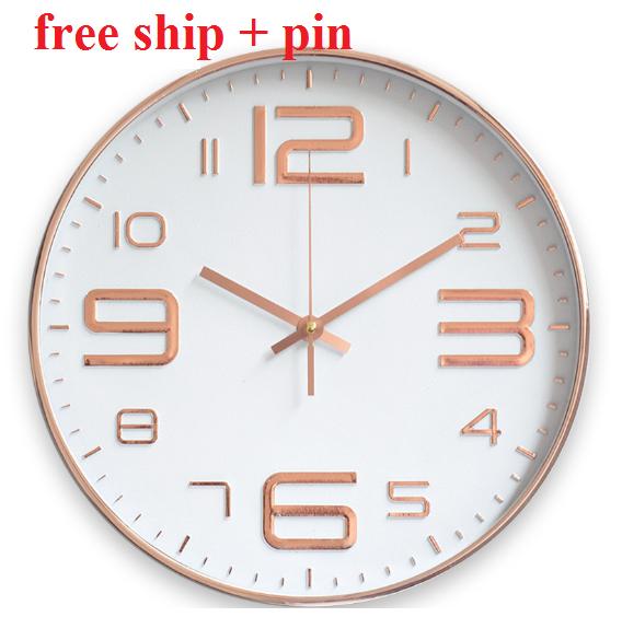 BAO SHIP +PIN Đồng Hồ Treo Tường kim trôi cao cấp QUARTZ