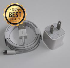 Bộ sạc iPhone (dùng cho iPhone 8 Plus, iPhone 8, iPhone 7 Plus, iPhone 7, iPhone 6s Plus, iPhone 6 Plus (Cam kết hàng Zin – có hướng dẫn phân biệt) (Adapter 5W + Cable Lightning)