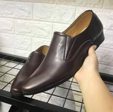 Giày tây nam phong cách lịch lãm da mềm đế khâu chắc chắn có 2 màu đen và nâu