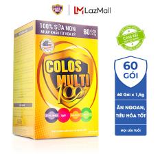 Sữa bột Colosmulti 100 tăng cường tiêu hóa và hấp thu, giúp bé ăn ngoan hộp 60 gói x 1,5g