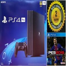 Combo Sony PS4 Pro 7106B 1TB [Bảo Hành 2 Năm] + Pes 2019