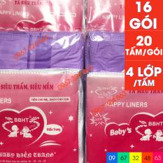 Bộ miếng lót phân su BABY HIỀN TRANG 4 lớp 16 gói
