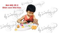 Rabbit Piano Musical Toy for Kids- Đồ chơi Đàn Piano hình chú thỏ có đèn và các bài hát quen thuộc cho bé phát triển thính giác cho trẻ