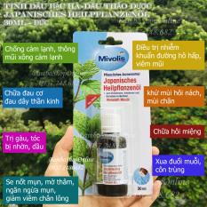 [Hàng nội địa Đức] Tinh dầu thảo dược bạc hà Japanisches Heilpflanzenö – Das Gesunde Mivolis. Giúp hết cảm cúm, xoa dịu các triệu chứng như đau đầu căng thẳng hoặc cảm,..