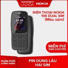 Điện thoại Nokia 106 Dual sim – Màu Xám