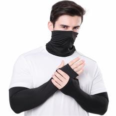 Set Khăn & Găng tay chống nắng UV vải dày dặn, thoáng mát, co dãn siêu tốt
