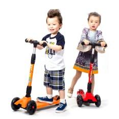 Xe trượt scooter 3 bánh 21st scooter SPINE cho bé từ 3-14 tuổi xe scooter xịn có đèn LED phát sáng gập gọn tiện lợi