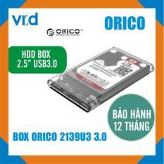 Hộp Ổ Cứng Hdd Box ORICO 2.5inch 2139U3, USB 3.0 (trong suốt) – Bảo hành chính hãng 1 năm
