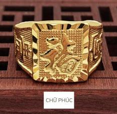 Nhẫn nam nhẫn chữ PHÁT-PHÚC-TÀI phú qúy giàu sang may mắn đeo được cho mọi Size ngón tay có thể chỉnh size được