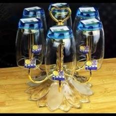 Khay cắm cốc, giá úp cốc inox phong cách hiện đại 2 màu vàng trắng