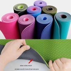 Thảm Yoga 2 Lớp Cao Cấp – 183x60x0.6cm – Màu ngẫu nhiên – thamtapYoga miDoctor
