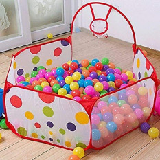 Lều bóng kèm 100 bóng cho bé, lều bóng rổ cho bé vui chơi