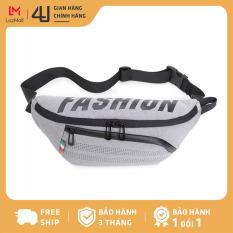 Túi đeo chéo nam thời trang 4U chất liệu vải cao cấp phối màu trẻ trung DB278 (đen – xám)
