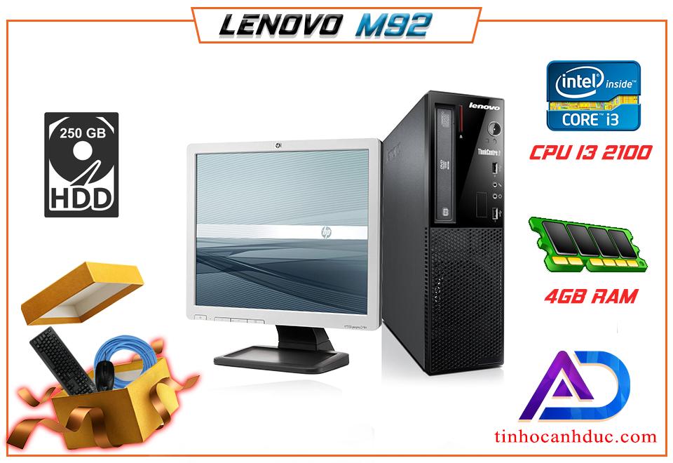 Máy tính để bàn Lenovo lenovoA1H1L17 CPU I3 Ram 4G HDD 250G kèm Màn hình LCD 17 tặng phím chuột lót cáp NEW dễ nâng cấp i5 i7