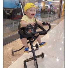 Xe Đẩy Du Lịch – xe đẩy trẻ em – xe đẩy siêu thị – 5 Bánh Gấp Gọn, loại Bánh Xe Có Đèn