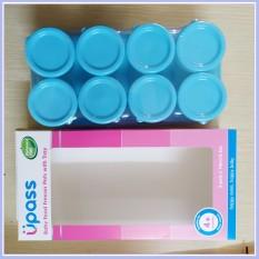Khay Trữ Đông Upass UP0070N Cho Bé Bộ 8 Cái,Chất Liệu Không Chứa BPA,Có Nắp Đậy Chống Rò Rỉ