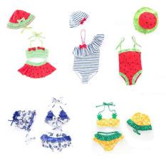 (CHỌN MẪU) Bộ bơi bé gái kèm nón, đồ bơi 1 mảnh có mũ, áo tắm 2 mảnh bikini 2 lớp dày dặn chống nóng chống lạnh dễ thương cho bé