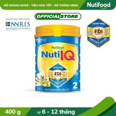 Sữa Bột Nuti IQ Gold step 2 từ 6-12 tháng lon 400g- Đề kháng khỏe và Tiêu hóa tốt [Ưu đãi vận chuyển]