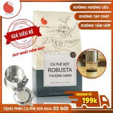 Cà phê bột Robusta THƯỢNG HẠNG , vị đậm , đắng , mạnh , hậu ngọt , không tẩm ướp , không pha trộn hương liệu , Light Coffee , gói 500g
