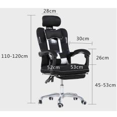Ghế xoay văn phòng chống mỏi – Ghế văn phòng, Ngả lưng + duỗi chân ngủ trưa, có bánh xe